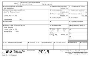 W2 Form Sample Tax Year 2019